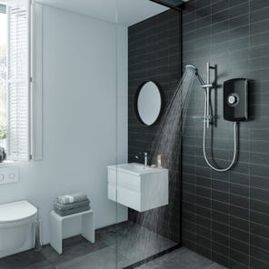 Amore Electric Shower - Gloss Black