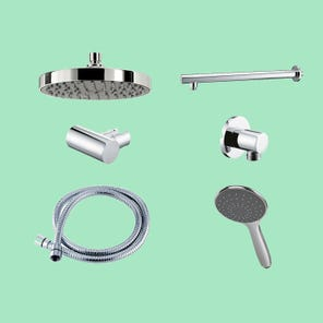 Dual Outlet Mixer Shower Combination Pack 1 - Circular
