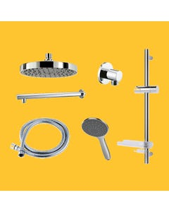 Dual Outlet Mixer Shower Combination Pack 2 - Circular