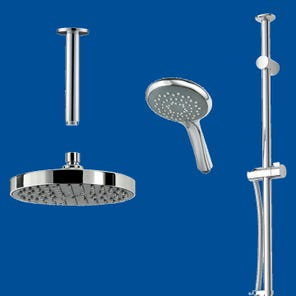 Dual Outlet Mixer Shower Combination Pack 5 - Circular