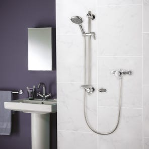 Elina Exposed Concentric Type 3 TMV Mixer Shower + Grab