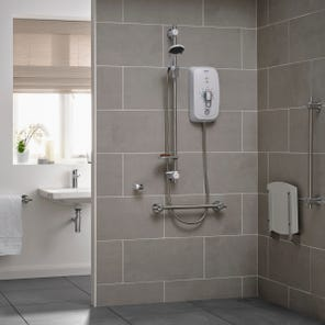 Omnicare Ultra Plus Thermostatic Shower With Grab Riser Rail Kit