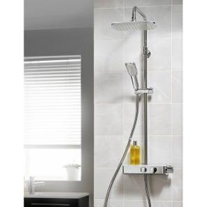 Push Button Bar Diverter Mixer Shower - Chrome