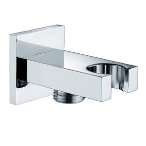 Square Edge Integrated Wall Outlet and Holder